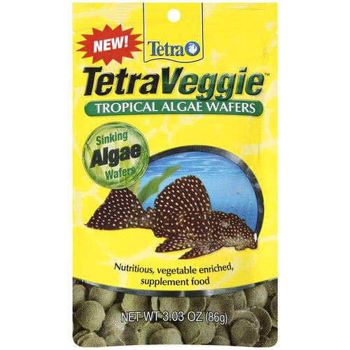 Algae Wafers, Veggie Tropical, Vegetable Enriched Supplement, 3.03 Oz