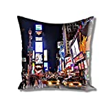 Athom Trendz Premium City Life Cushion Cover- 40cmx40cm (1.00)