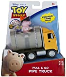 Hamm Mini-Figure + Pipe Truck: Toy Story Pull & Go Vehicle Series