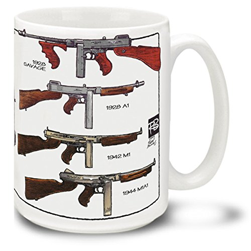 Cuppa Second Amendment Rights 15-Ounce Coffee Mug with Thompson SMG's (Thompson Tommy Gun compare prices)