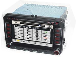 Autoradio HD GPS DIVX DVD MP3 USB SD TV RDS Bluetooth IPOD avec CAN BUS pour Seat Altea Leon Exeo avec tuner TNT