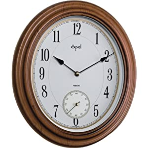 OVAL SHAPED SIDE SECOND CLOCK