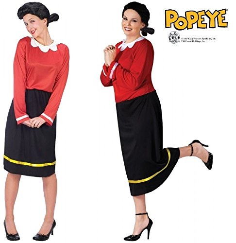 [Olive Oyl Adult Costume (Md/Lg)] (Popeye Plus Size Adult Mens Costumes)