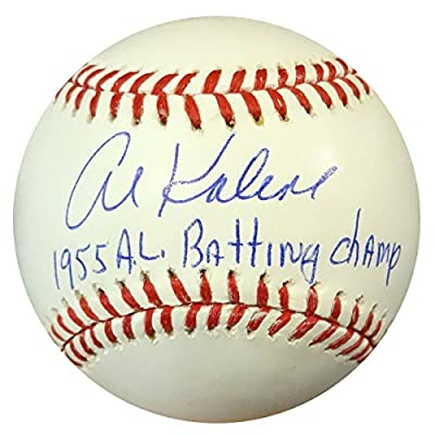 "Al Kaline Autographed Official Mlb Baseball Detroit Tigers ""55 Al Batting Champ"" Psa/dna Stock #94292"