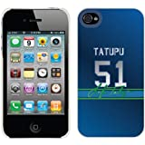 Lofa Tatupu - Color Jersey on iPhone 4 / 4S Thinshield Snap-On Case by Coveroo at Amazon.com