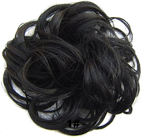 Beauty-Wig-World-Scrunchie-Bun-Up-Do-Hair-piece-Hair-Ribbon-Ponytail-Extensions-Wavy-Curly-or-Messy-Various-Colors