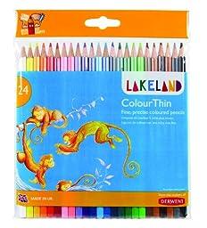 Derwent Lakeland Colorthin Pencils, 2.9mm Core, Wallet 24 Count (0700269)