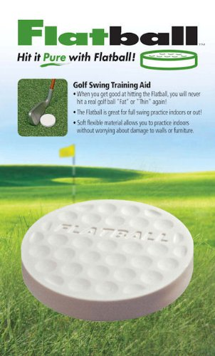 Molor Flatball Golf Swing Training Aid (6-Piece), White
