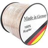 Lautsprecherkabel transparent 2 x 1,5mm² - 20m - Qualitätsware Made in Germany - Reines Kupfer