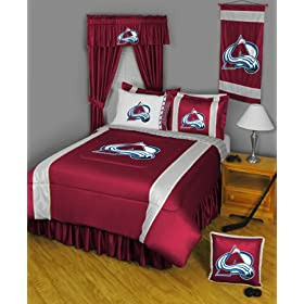 COLORADO AVALANCHE 6 pc Queen Bedding Set Boys Comforter Sheets Sham NHL Hockey