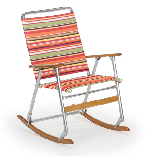 Telescope Casual The Original High Back Folding Rocking Arm Beach Chair, Cantina