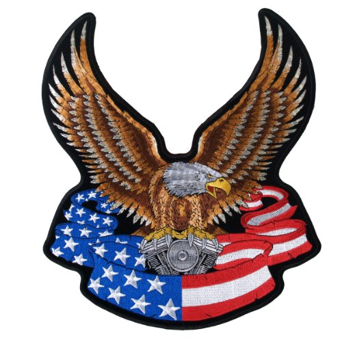 Hot Leathers Eagle Banner American Patch (3