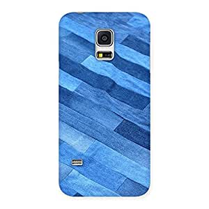 Stylish Denim Sheet Print Back Case Cover for Galaxy S5 Mini