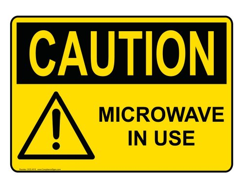 Compliancesigns Plastic Osha Caution Sign, 10 X 7 In. With Mri / X-Ray / Microwave Info In English, Yellow