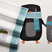 Home Classics Full Size Heavyweight 5 oz (170-gram) 4 Piece Flannel Sheet Set with Deep Pockets Penguin