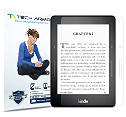Tech Armor Kindle Voyager High Defintion (HD) Clear Screen Protectors - Maximum Clarity and Touchscreen Accuracy [3-Pack] Lifetime Warranty