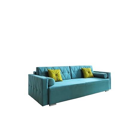 Sofa Belisa, Schlafsofa, Couch, Schlaffunktion, Bettkasten, Wohnzimmer, Modern Still (Casablanca 2313 + Casablanca 2312)