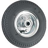 Waxman 4143055 8 inch Pneumatic Rubber Wheel, Black Tire and Chrome Wheel