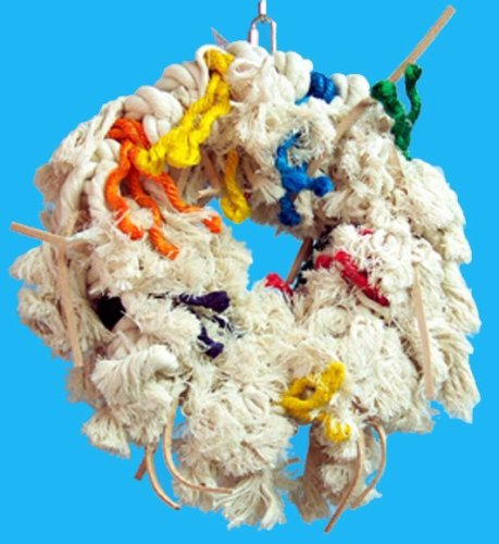 Image of Zoo Max DUS190L Fluffy Large Bird Toy 14in (B00061V4BM)
