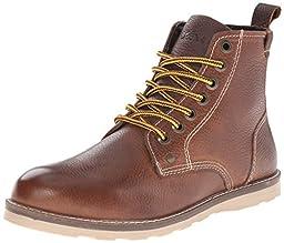 Crevo Men\'s Ranger Winter Boot, Caramel Leather, 10 M US