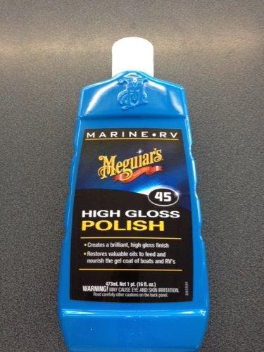 Superb Meguiars Marine Products - Rinnovante colore per verniciatura metallizzata per barca, Yacht, moto d'acqua, Camper, compreso guanto magico AA in microfibra