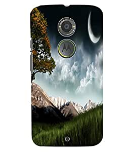 ColourCraft Beautiful scenery Design Back Case Cover for MOTOROLA MOTO X2