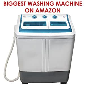 portable mini compact twin tub 11lb washing machine washer spin dryer with built in. Black Bedroom Furniture Sets. Home Design Ideas
