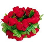 Artificial Rose Garland Silk Flower V...