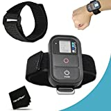 Xtech® Adjustable Waterproof Remote Wrist Mount Strap for GoPro HERO4 Hero 4, GoPro HERO3 Hero 3, GoPro Hero3+, GoPro Hero2, GoPro HD Motorsports HERO, GoPro Surf Hero, GoPro Hero Naked, GoPro Hero 960, GoPro Hero HD 1080p, GoPro Hero2 Outdoor Edition and All GoPro HERO Cameras.