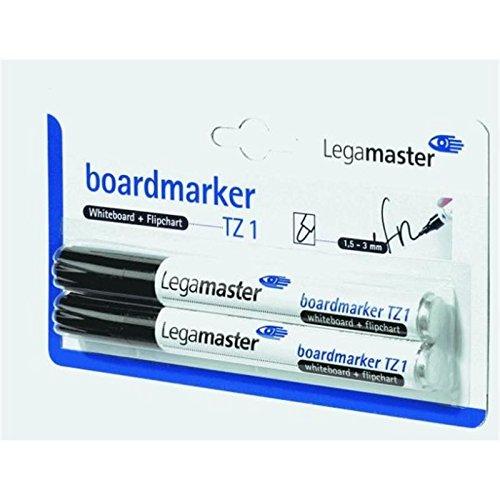 Legamaster marqueur pour tableau tZ 1, 5-3 1, mm, rechargeable-noir-lot de 2