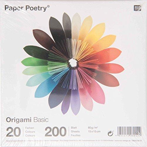 Rico - Carta da origami, 15 x 15 cm