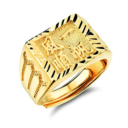 fate-love-jewellery-chinese-characters-inlay-18k-gold-plated-ring-wedding-band-men-jewelry-adjustabl