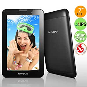 Lenovo A3000 16GB MTK8389 Quad Core 7inch IPS Capacitive Screen Android 4.2 2G 3G Phone Call BT Camera Phone Tablet PC - Black