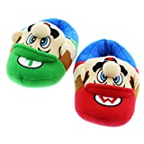Super Mario Brothers Boys Plush Slippers (Little Kid/Big Kid)