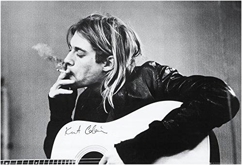 Empire, 30559, Poster, motivo: Kurt Cobain mentre fuma, ca. 91,5 x 61 cm