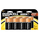 Duracell Coppertop D Batteries 8 Count (Pack of 2)