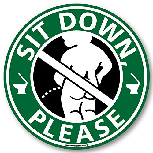 座りション トイレステッカー 立たないでジョ?!!(小便小僧/グリーン) トイレ ステッカー 立ちション禁止 座って 座る  シール