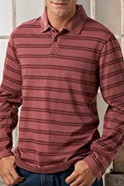 North Coast Pure Cotton Stripe Polo Shirt [T28-2451B-S]