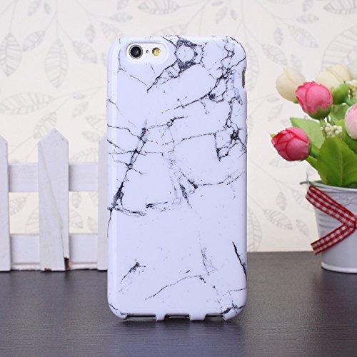 EKINHUI iPhone 6S 6 Custodia,Marmo caso del modello ibrido Gloss TPU protettivo molle Shell posteriore per iPhone 6S 6 4.7inch (A1)