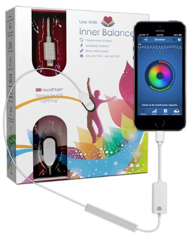 Heartmath Inner Balance-Lightning Sensor for Iphone5 and Ipad Air