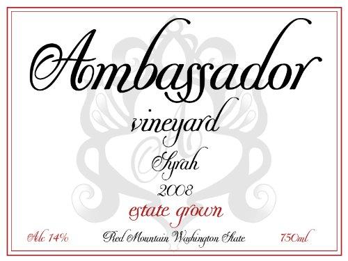 2008 Ambassador Vineyard Estate Red Mountain Syrah 750 Ml