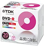TDK データ用DVD-R 4.7GB 16倍速対応 ホワイトワイドプリンタブル 20枚 5mmスリムケース入り DR47PWC20U
