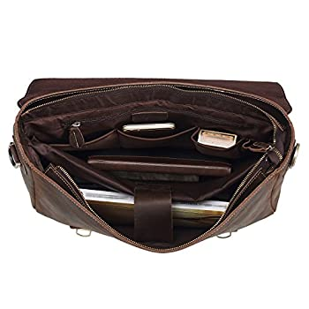 Polare Men's Thick Genuine Leather Messenger Bag 2