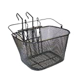Basil MTB Front Wire Basket with Hook-On Bracket - Black