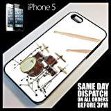 Generic Cover for iPhone 55G Drum Kit Cymbals Stagg Zildjian Sticks Music Case 9011 Black
