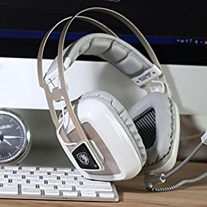 Kupen Sades A8 7.1 Sound Gaming Headset Headband Headphone With Mic For PC