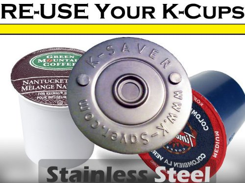 Re-use K-Cups K-Savers Stainless Steel Lid 5