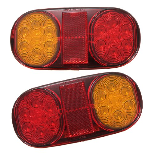 Maxsale 2X Led Tail Light Trailer Light For Boat Submersible Indicator Lamp