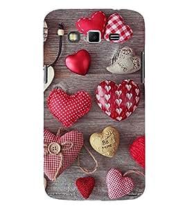 Hearts 3D Hard Polycarbonate Designer Back Case Cover for Samsung Galaxy Grand I9082 :: Samsung Galaxy Grand Z I9082Z