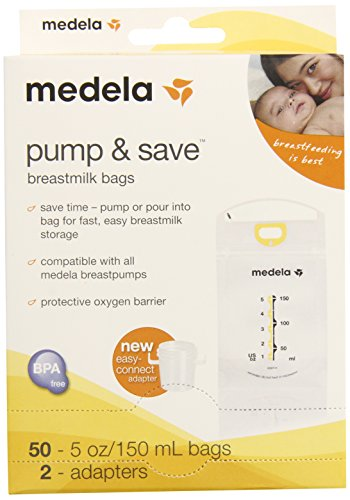 Medela Pump and Save Breast Milk Bags, 50 Count - 1